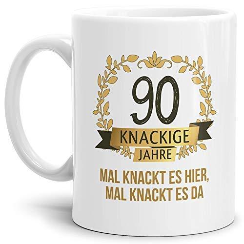 """Tassendruck Geburtstags-Tasse Knackige 90"""" Geburtstags-Geschenk Zum 90. Geburtstag/Geschenkidee/Scherzartikel/Lustig/Witzig/Spaß/Fun/Mug/Cup Qualität - 25 Jahre Erfahrung"""