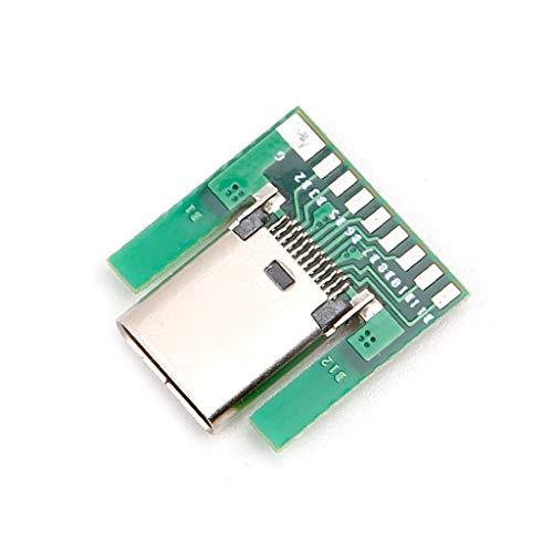 ESden USB 3.1 Typ C Buchse Stecker SMT Typ mit PC Board DIY 24pin Flat-panel-mount-adapter
