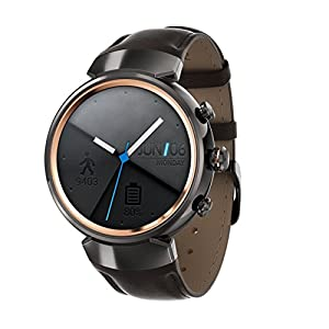 Asus ZenWatch 3 wi503q de 1ldbr0001 (3,5 cm (1,39 pulgadas), AMOLED, 400 x 400 Qualcomm Snapdragon Wear 2100, 512 MB, 4 GB, Android Wear pulsera de piel), color marrón oscuro