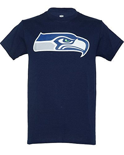 Seahawks Seattle American Football T Shirt Tee Navy White MSH3479NL Navy