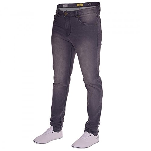 Island Trading Mens Skinny Stretch Slim Fit Stretchable Denim Jeans Cotton Trousers Blue, Black, Light Dark Blue