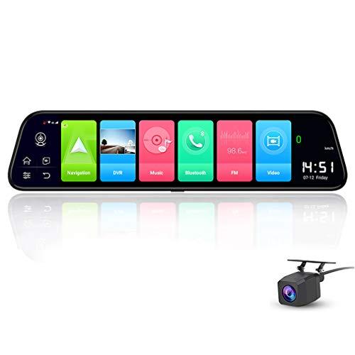 SZKJ D50 30,5 cm Full Screen 4G Touch IPS Auto Armaturenbrett Cam Rückansicht Android 8.1 Spiegel mit WiFi GPS Navi Bluetooth Musik Dual Lens FHD 1080P