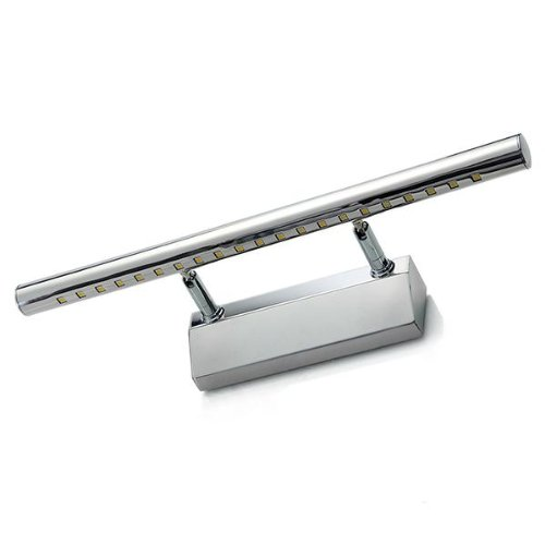 Preisvergleich Produktbild 5W 21 LED SMD5050 Edelstahl Spiegelleuchte Badlampe Wandleuchte Warmweiß Hell