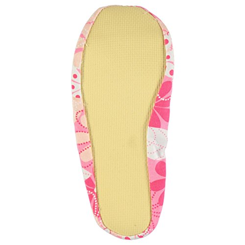 Slazenger Kinder Canvas Schläppchen Turnschläppchen Gymnastikschuhe Muster Pink Print