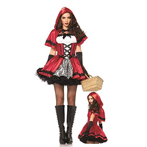 Olydmsky Weihnachtskostüm Damen,Nachtclub-Rollenspiel Kleid Little Red Riding Hood Kleid Weihnachten Queen ()
