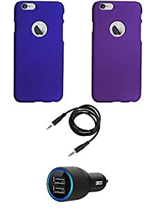 NIROSHA Cover Case Car Charger for Apple iPhone 6 - Combo