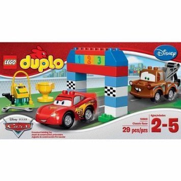 Lego Duplo Cars Disney Pixar Cars Classic Race-big Colorful Building Bricks and Blocks Sets Collectible Toys for Boys From 2-5 Years-includes Lightning Mcqueen and Mater Lego Duplo Figures- Imported From Usa. by LEGO (Cars Lego-sets Disney)