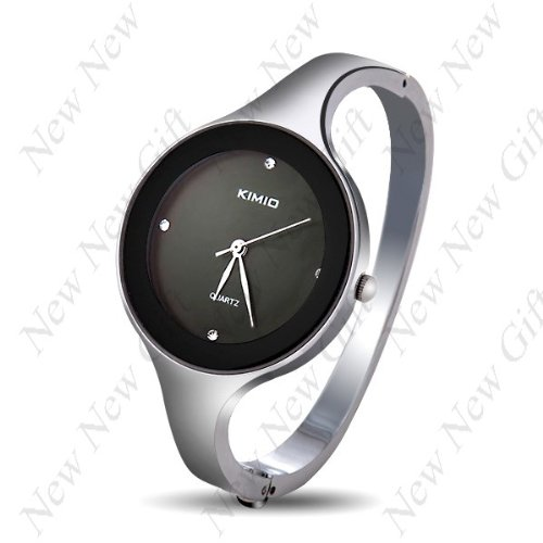 Price comparison product image Mixe New Arrival ~ Elegant Bangle Bracelet Wrist Watch with Thin Alloy Strap for Girl Woman Lady