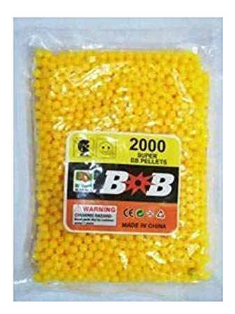 Indian Gifts Shoppee 6 MM Plastic BB Bullets for Toy Guns & Air Gun | 400 Pcs | Yellow Colour