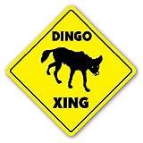 Funny Sign Geschenk Dingo CROSSING SIGN Neuheit Australien Outback Hund Outdoor Metall Aluminium Schild, Dekoration