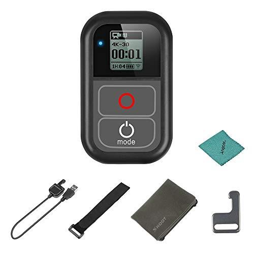 SHOOT XTGP183 WiFi Fernbedienung wasserdicht für GoPro Hero 7 6 5 4 3+ 3 für GoPro Hero Action Kameras mit Ladekabel Handschlaufe Metallclip Stoffbeutel (Fernbedienung Für Go Pro Hero 3)