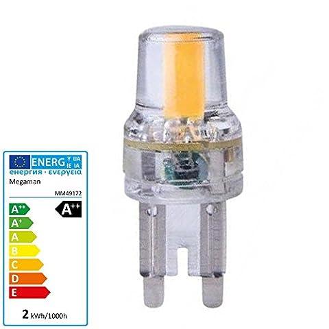 MEGAMAN LED G9 Lampe 2 Watt Filament Birne Halogenersatz Stiftsockel Leuchte A++