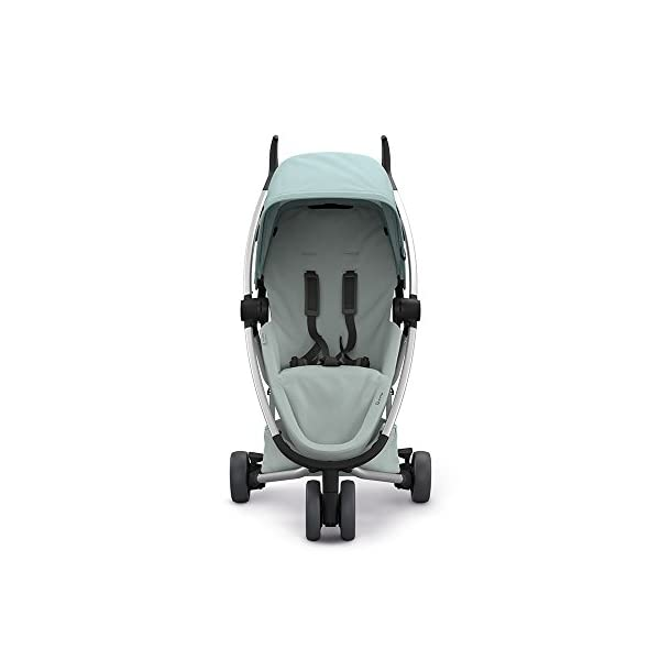 Quinny Zapp Flex Design 2018 Frost on Grey Quinny Flexible reversible seat in both Blick directions down to a horizontal lying position. Three Compact wheels - extremely manoeuvrable Classic Zapp handles - Super Strong Hold, easy to steer 6