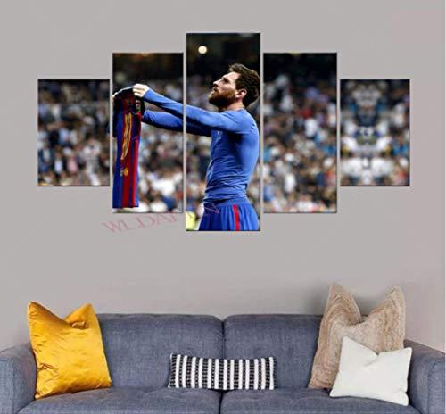 DPFRY Cuadro En Lienzo Barcelona Messi Y Su Imagen
