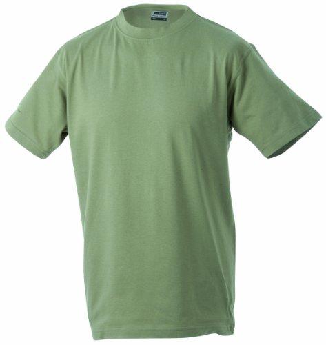 James & Nicholson Herren Kurzarm Shirt Beige (Khaki)