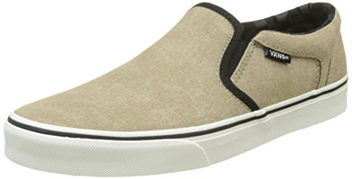 Vans Herren Mn Asher Sneakers, Beige (Washed Canvas Cornstalk), 40.5 EU