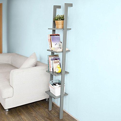 SoBuy® Scaffale a scala,Mensola porta CD,Librerie, Mensole