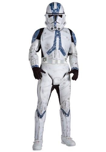 Clone Star Deluxe Trooper Kind Wars Kostüm - Kostüm Clone Trooper Star Wars 501st Legion deluxe Kind - M - 128cm