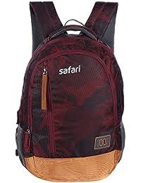 Safari 30 Ltrs Wine Laptop Backpack (Warfare Wine)