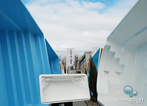Gfk Schwimmbecken DOUBLE VENUS Swimming-Pool, Garten-Pool MINIATUR! GFK Pool Mini