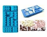 CISL Silikonbackform Silikon Backform Lego Steine Blöcke 15 x 8 cm Blau*Neu*OVP*