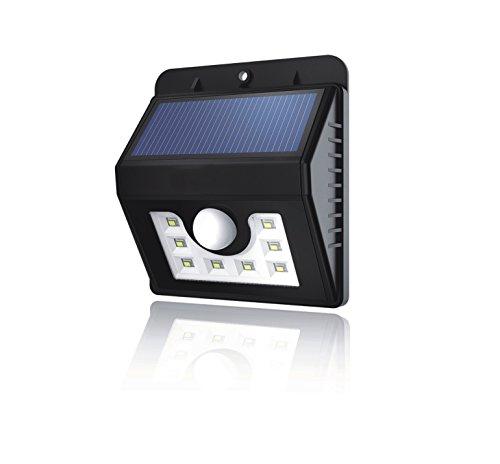 Preisvergleich Produktbild DAKAtec 3085012 Solar Leuchte 8 LEDs Bewegungs Solarlampe mit 3 Modi für Außen
