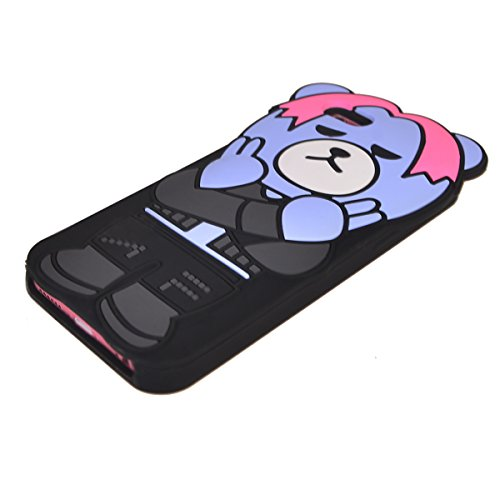 Apple iPhone 7 Coque,COOLKE Mode 3D Style Cartoon Gel Soft silicone Coque Housse étui Case Cover Pour Apple iPhone 7 (4.7 inches) - 008 004