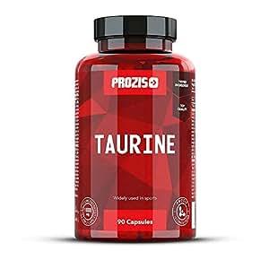 Prozis Taurina Pura 90 Capsule 1500mg - Integratore a base di Amminoacidi per il benessere del Cuore, degli Occhi e della Salute Cardiovascolare - 30 Dosi !