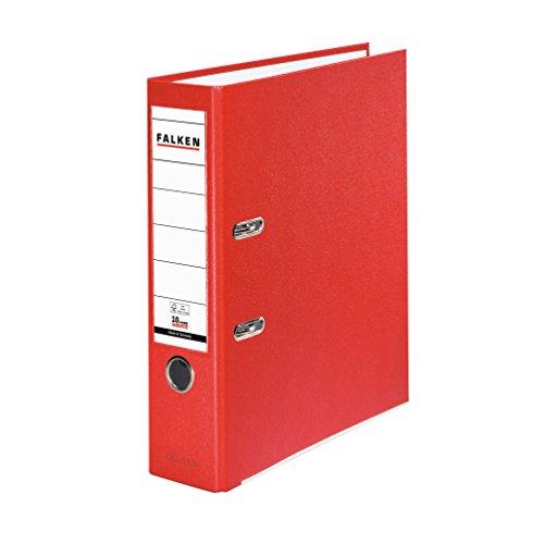 falken ordner Falken PP-Color Kunststoff-Ordner 8 cm breit DIN A4 rot Ringordner Aktenordner Briefordner Büroordner Plastikordner Schlitzordner