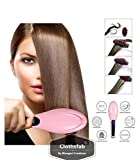Clothsfab Simply 2 in 1 Straight Ceramic Hair Straightener, Curler and Styler Brush for Women (Multicolour)