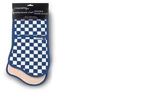 City Look Cooksmart Professional Gant de four doublé à carreaux Bleu marine