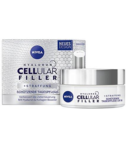 NIVEA Hyaluron Cellular Filler Anti-Age Tagespflege Creme (1 x 50 ml), Anti Falten Tagescreme mit Lichtschutzfaktor 30, intensive und schützende Anti Aging Gesichtscreme