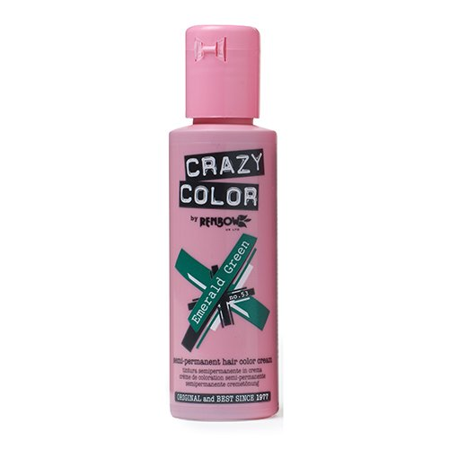 Renbow Crazy Color Semi-Permanent Hair Color Dye emerald green 53-100 ml, 1er pack (1 x 115 g)
