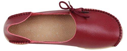 Fangsto  Loafer Flats,  Damen Sneaker Low-Tops burgunderfarben