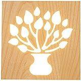 lámpara de pared Creative bonsai tres secciones de atenuación LED lámpara de pared luces de techo material de madera sólida