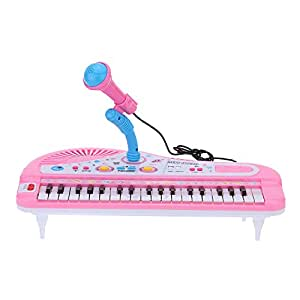 andoer 37 schl sseln karikatur mini elektronisches tastatur musik spielzeug mit mikrofon. Black Bedroom Furniture Sets. Home Design Ideas