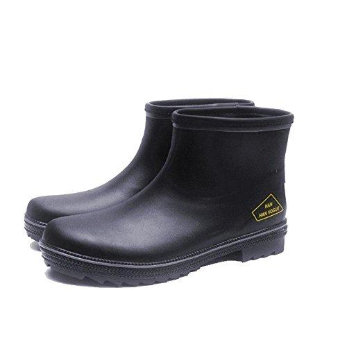 Herren Winter Schnee Stiefel Wasserdichte Regen Stiefel Fisch Hunter schwarz Gummi Regenschuh , A , 43