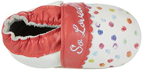 Rose & Chocolat Baby Mädchen Polka Paint Splash Lauflernschuhe Mehrfarbig (Pink)
