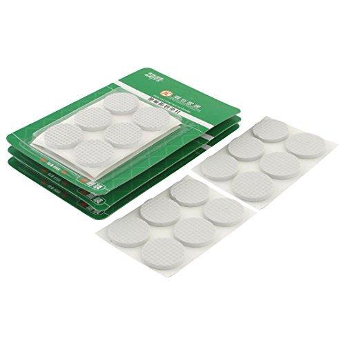 Dealmux Pieds de chaise de table ronde EVA antidérapante autocollantes film de protection pour pieds de meubles Pads Coussins 30 mm 48 pcs Blanc