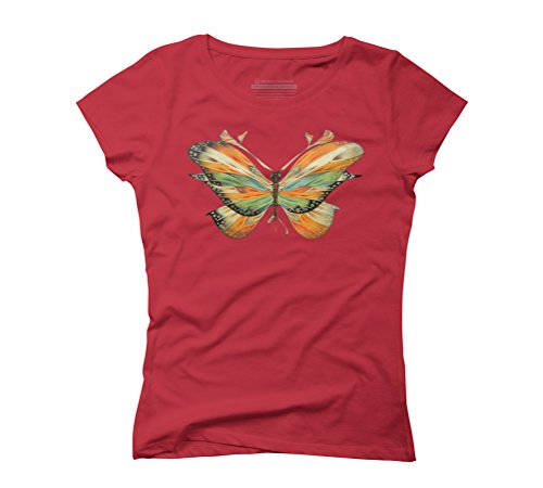 colorful butterfly Women's Graphic T-Shirt - Design By Humans Red
