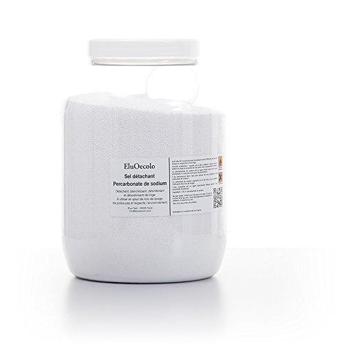 EluOecolo - Percarbonate de Soude 3kg - Oxygène actif <12% - avec doseur à l'intérieur - Détachant & blanchissant - Made in France