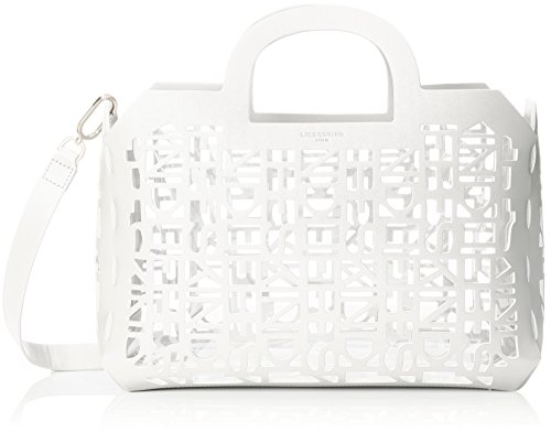 Liebeskind Berlin Damen Shopperm 2d3d Henkeltasche, Weiß (Optic White) 15x37x22 cm
