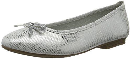 Softline 22164, Ballerine Donna Argento (White/silver 191)