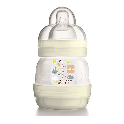 MAM Anti-Colic Self-Sterilising Bottle 130 ml – White 41JgVxzSqiL