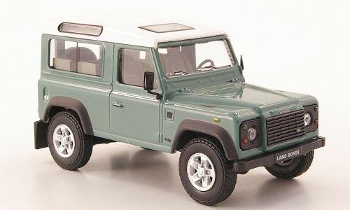 land-rover-defender-90-grau-grun-weiss-modellauto-fertigmodell-cararama-143