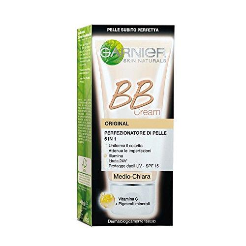 Garnier Bb Cream Original Crema Viso di Pelle 5 in 1 Medio-Chiara, 50 ml