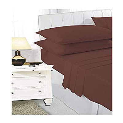 T&A Traders Polycotton Plain Dyed Flat Bed Sheets In 4 Standard UK Sizes and 19 Vibrant Colours