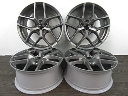 Borbet Y - 4 cerchioni in alluminio da 17 pollici, per A3 S3 8P 8V A4 8E 8K 8W A6 4F 4G A7 A8 Q2 Q3 TT