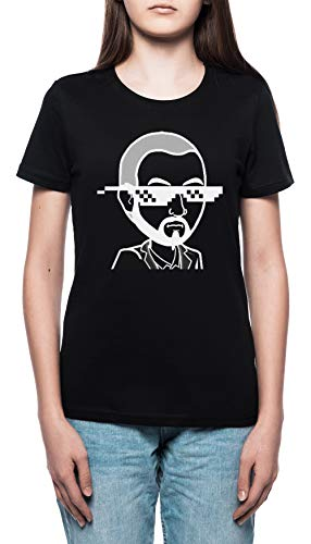 MudRacing Sonnenbrille - Mudracing Damen T-Shirt Rundhals Schwarz Kurzarm Größe XXL Women's Black XX-Large Size XXL