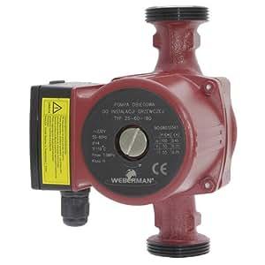 WEBERMAN Umwälzpumpe 25-60 180mm-0202W-Motor- besitzt drei Geschwindigkeitsstufen-Arbeitstemperatur: min. +2°C, max. +110°C-Hochwertige Qualitätspumpe
